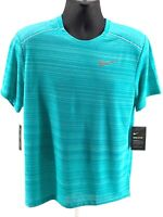 Nike Dri-Fit Miler Running / Training Top Blue AJ7565-359 Men's Size Medium