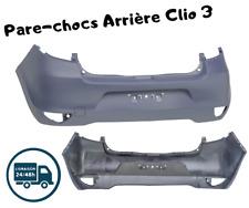 PARE CHOC ARRIERE CLIO 3 SÉRIE 2 DE 2009-2012 AVEC APPRÊT LIVRAISON GRATUITE