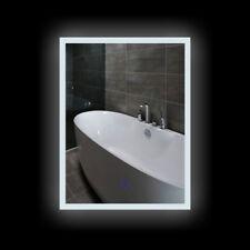 60x80cm Badspiegel Vertikal Spiegel mit LED Beleuchtung Touch-Schalter 20W IP44