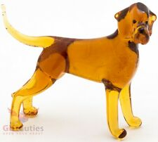 Art Blown Glass Figurine of the Hungarian or Magyar Vizsla dog