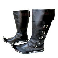 Leather Mens Renaissance Fair Medieval Knight Pirate Warrior Steampunk Boots