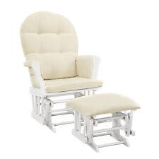 Glider Ottoman Chair Seat Nursery Furniture Rocking Set Baby Rocker with Cushion