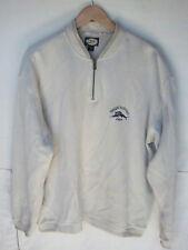 TOMMY BAHAMA - Men's Relax Beige 1/4 Zip Pullover Cotton Sweatshirt -- Size M