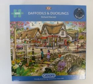 """Gibsons """"Daffodils & Ducklings"""" By Richard Macneil 1000 Pieces"""