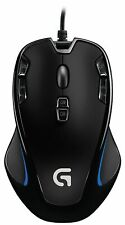 Logitech G300s Wired Optical 9-Button Gaming Mouse - Black