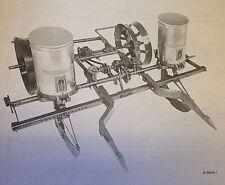 McCormick C-251 2 Row 2pt Fast Hitch Corn Planter Unit Owner's Manual Farmall IH