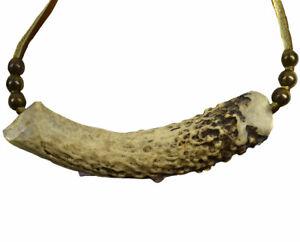 Bone Antler Pendant Leather Strap Necklace SALE WAS $45.00