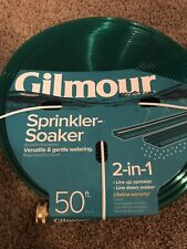 New listing Gilmour 50 ft 2-in-1 Sprinkler Soaker Hose New and Unused- 2 Pack!