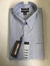 Kirkland Signature Men's Extra Large 17 34/35 Shirt Dress Blue White Stripes