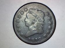 1812 LARGE CENT VG CONDITION