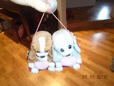 Early 2000s Nwt Applause Sad Sam & Sally Stuffed Animal Plush Puppies True Love