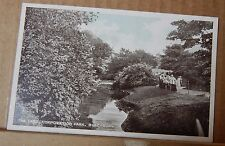 Postcard the lake Corporation Park Blackburn Early Tinted Card Unposted