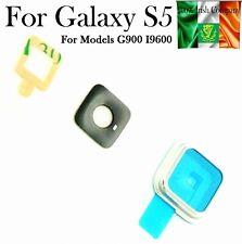 Samsung Galaxy S5 SV G900 I9600 Camera Bezel Glass Back Rear Lens Cover Silver