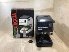 Vintage Italian Italy Gaggia Espresso Machine Black 42028 w/ Box Good Condition