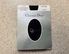 Vintage Dior Trotter Logo Oblique Monogram Crystal Print Tights Pantyhose, Black