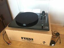 Rega Planar 1 Turntable Gloss Black with Cartridge and Belt Upgrades