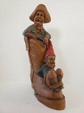 Gabby & Hoppy, gnome tied up on cowboy boot-Cairn Studio #5084 by Tom Clark