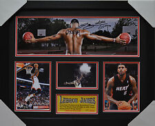 LEBRON JAMES SIGNED AND FRAMED LIMITED EDITION