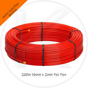 16mm WATER UNDERFLOOR HEATING PERTPIPE 200m Rolls 3 Layer EVOH Next Day Delivery