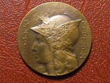 Art Nouveau Marianne Gloria Victrix Rare 1921 Bronze Medal M32