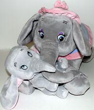 "Baby Dumbo and Mrs Jumbo Mother Plush 15"" Set Storybook Circus Disney Parks NWT"