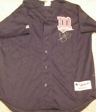 JAYS TWINS SHANNON STEWART SIGNED AUTOGRAPHED AUTHENTIC BASEBALL JERSEY ADULT L