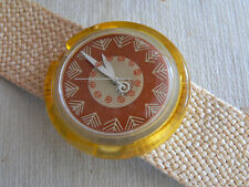 1994  Pop Swatch Watch Leaf Limited edition 33,333 by Stephane Plassier New