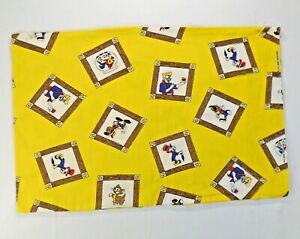 Pinocchio Travel Size Pillow Case Yellow Disney Fabric Jiminy Cricket Geppetto