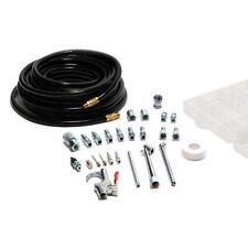 25 Piece 50 feet Air Compressor Hose Accessory Tool Kit Storage Case Tire Gauge