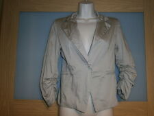 Made in italy womens beige blazer size S