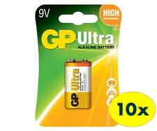 9V GP ULTRA Alkaline Battery 1604AU 9V 6LF22 6LR61 MN1604 (BOX of 10 PCS)