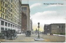 Michigan Boulevard Chicago IL nice Vintage postcard postally used in 1917