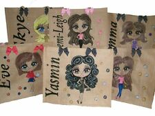 PERSONALISED Jute Bags Hand Painted To Your Design Details Shopping Gift SALE