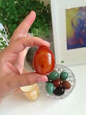 Carnelian Yoni Egg. Authentic & Sensual. Medium. Non Drilled