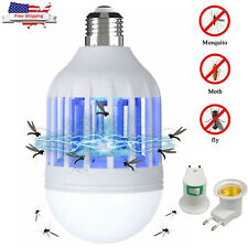Bug Zapper LED Light Bulb Mosquito Lamp Fly Indoor Outdoor Insect Trap Killer