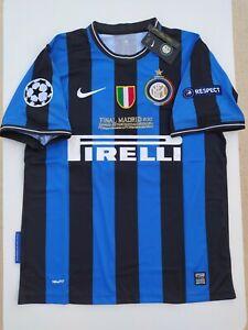 Maglia Inter 2010-2011 Calcio Retro Vintage Umbro Zanetti Triplete Milito