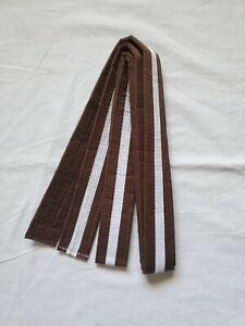 New Size 4 Taekwondo Belt Karate Judo Martial Arts BROWN w/ WHITE Stripe