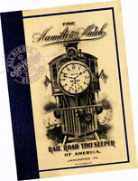 Hamilton Watch Co 1912 CATALOG Pocket Watches Rail Road Timekeeper models styles