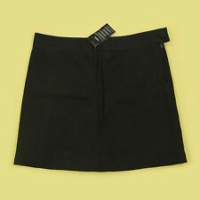 NEW H & M SHORTISH LENGTH TEXTURED COTTON BLACK OFFICE, EVENING SKIRT SIZE 18