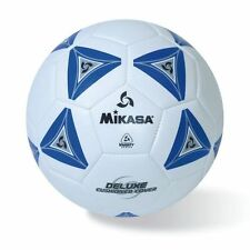 Mikasa Deluxe Soccer Football 2 Ply Butyl Bladder Ball Size 4 White With Blue