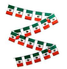 30ft String Flag Set of 20 Mexico Mexican 12x18 Bunting Flag Banner Flags