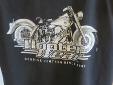 Hooter Wear Bar Grill Restaurant Sleeveless Tshirt XLT Biker Motorcycle Black