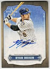 2012 Topps Five Star Autograph #FSA-RB Ryan Braun Brewers Rainbow Parallel #5/25