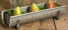 Ctw 770009 Decorative Metal Chicken Feeder Tabletop Planter Tray, Galvanized .