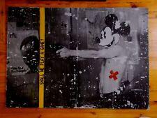 """Nigel Borowskj  """" Taxi Driver Feat Mickey Mouse """"  Technique Mixte sur Panneau"""