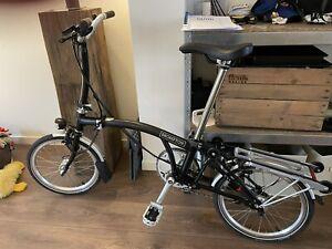 Brompton M2RL 2 Speed Folding Bike With Rack, Fenders, And Light, Black