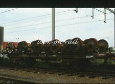 N1238 - Dia slide 35mm original Eisenbahn Holland, NS Achsen wagen, '80s