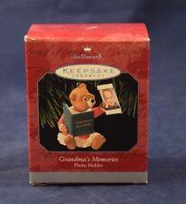 NEW 1998 Hallmark Ornament GRANDMA'S MEMORIES Photo Holder FREE Shipping