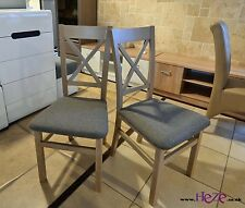 2 wooden chairs, strong and solid, oak sonoma colour Kam03