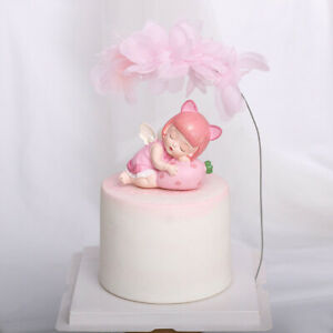 Happy Birthday Cake Toppers Lace Feather Romantic Wedding Party Cake Decorations